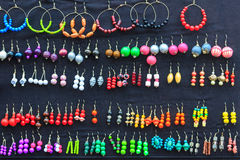 Colorful set of earrings collection Royalty Free Stock Photo