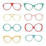 Colorful set of fashionable glasses Stock Image