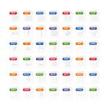 Colorful set of file type icons. file format icon set in color. Files symbols buttons Stock Photos