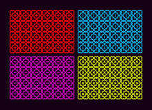 Colorful set with a four pattern. Royalty Free Stock Photo