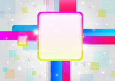Colorful set with a four pattern. Royalty Free Stock Photography