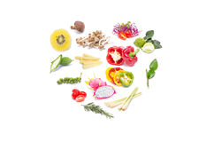 Colorful Set Fruits And Vegetables. Royalty Free Stock Photos