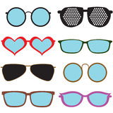 Colorful Set of glasses Royalty Free Stock Images