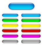 Colorful set of glossy web buttons Royalty Free Stock Photo