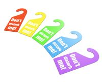 Colorful set of handle signs Royalty Free Stock Photos