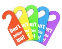 Colorful set of handle signs Royalty Free Stock Photo