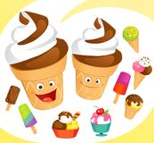 Colorful Icecreams Set Royalty Free Stock Photo