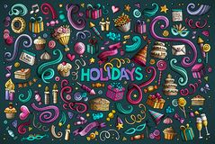 Colorful set of holidays object Royalty Free Stock Photos