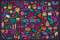 Colorful set of holidays object Royalty Free Stock Image