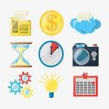 Colorful set icon digital marketing. Vector illustration Stock Images