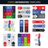 Colorful Set of Infographic Design Templates - Banners, Charts, Arrows Royalty Free Stock Photography