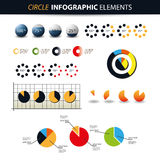 Colorful Set of Infographic Elements Stock Image