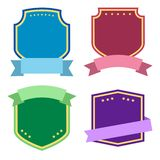Colorful set, label with ribbons. Vector illustration vector illustration