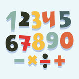 Colorful set of numbers. Royalty Free Stock Images