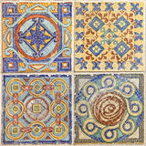 Colorful set of ornamental tiles. From Portugal Royalty Free Stock Images