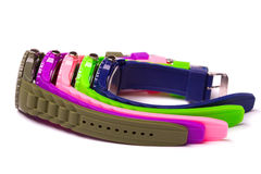 Colorful set of plastic watches Stock Image