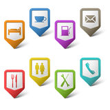 Colorful set pointers for services. Eps 10 Stock Photos