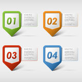 Colorful set progress icons Royalty Free Stock Photos
