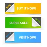 Colorful set of promotional sale banners Stock Image