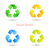 Colorful set of recycle signs. Vector illustration Stock Photo