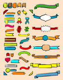 Set ribbons and labels. Colorful set of ribbons and labels Stock Photo