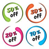 Colorful set of round frame. Discount price label. Vector illustration vector illustration