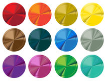 Colorful set of shiny blank buttons Stock Photo