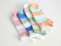 Colorful set of socks Stock Images
