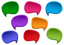 Colorful set of speesh bubbles. Blank empty dialog boxes for your text. Vector stock illustration