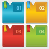 Colorful Set Of Square Banner. Royalty Free Stock Photos
