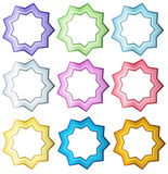 Colorful set of stars Royalty Free Stock Photos