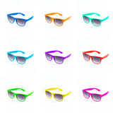 Colorful set of sunglasses Royalty Free Stock Photos