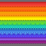 Colorful set of ten seamless borders