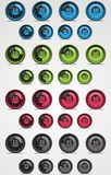 Colorful set of  timer. Web elements. Stock Photo