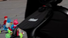 Colorful set of toys in tiny bikes. Tepotzotlan, Mexico-CIRCA June 2017: Colorful set of toys in tiny bikes. Mexico is widely known by its beautiful regional stock video footage