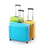 Colorful set of  travel bags suitcase Royalty Free Stock Images