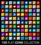 Colorful Set of 100 universal flat modern icons Stock Photo