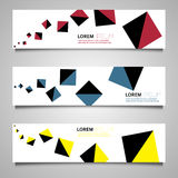 Colorful set of vector banners Royalty Free Stock Image