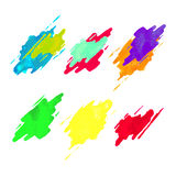 Colorful set of watercolor splashes icons Stock Photos