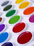 Colorful set of watercolour paints Stock Image