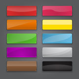 Colorful set of web banner buttons with different. Gloss reflections. Vector illustration Royalty Free Illustration
