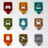 Colorful set web pointers for transport Royalty Free Stock Image