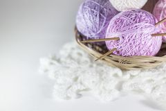 Colorful set of yarn ball stock photography
