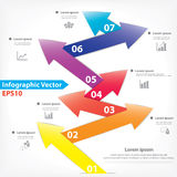 Colorful seven arrows design Royalty Free Stock Photos