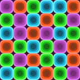 Colorful Seventies Background. Color squares vintage trendy background Stock Photography