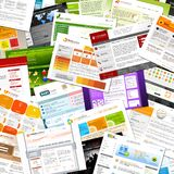 Scattered Web Design Template Collection. Colorful Several Webdesign Templates - Design Collection Scattered on the Ground royalty free illustration