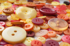 Colorful sewing  buttons background Royalty Free Stock Photography