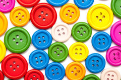Colorful sewing buttons background Royalty Free Stock Photos