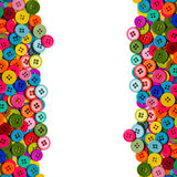 Colorful sewing buttons royalty free stock photography