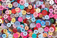 Colorful sewing buttons background Royalty Free Stock Image